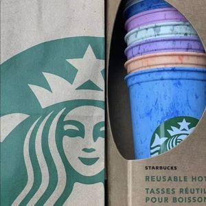 Starbucks reusable marbled hot cups 6 pack